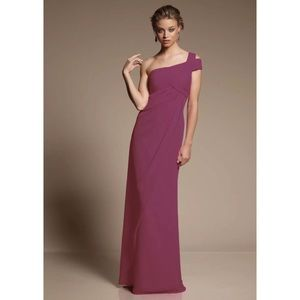 Mori Lee 648 Bridesmaid One Shoulder Cutout Dress